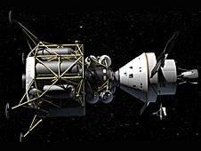 Lądownik Altair (z lewej) oraz kapsuła Orion (z prawej) / Credits - NASA