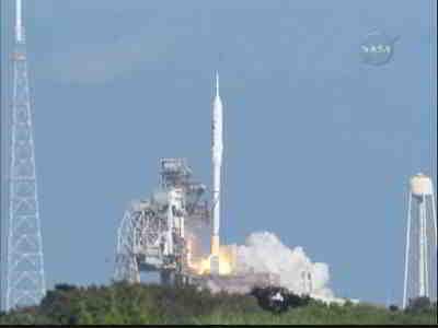 Rakieta Ares I-X opuszcza wyrzutnię, credits: NASA TV