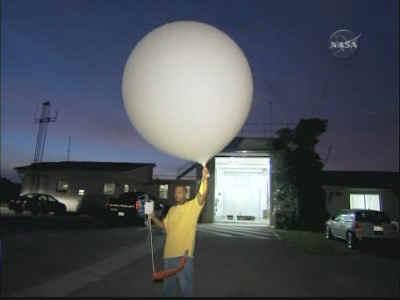 Sonda balonowa tuż przed uwolnieniem, credits: NASA