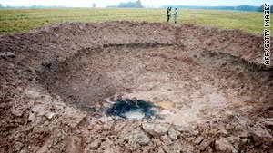 Fałszywy krater uderzeniowy na Łotwie, credits: AFP / Getty Images