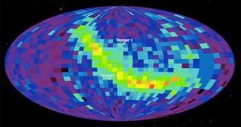 Mapa nieba powstała na podstawie danych z sondy IBEX, credits: NASA