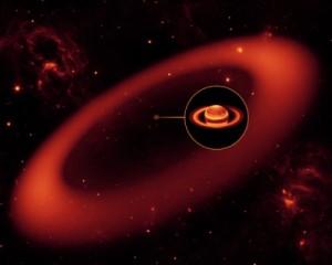 Wizualizacja artystyczna nowego pierścienia Saturna / Credits: Nasa