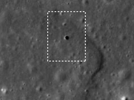 Otwory w powierzchni Księżyca prawdopodobnie prowadzą do podziemnego systemu tuneli, credits: JAXA