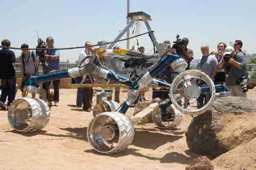 Testy systemu jezdnego Mars Science Laboratory, credits: NASA/JPL-Caltech
