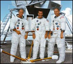 Załoga misji Apollo 12. Od lewej - Conrad, Gordon, Bean / Credits - NASA