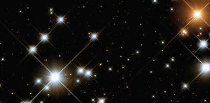 Obraz gromady NGC 4755 uzyskany przez teleskop Hubble'a credits: NASA/ESA, Jesús Maíz Apellániz (Instituto de Astrofísica de Andalucía, Spain)