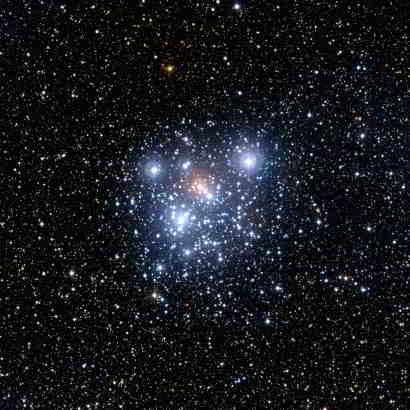 Obraz gromady uzyskany za pośrednictwem WFI, credits: ESO