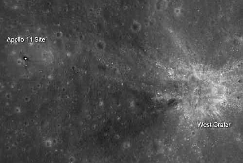 Miejsce lądowania Apollo 11, credits: NASA/GSFC/Arizona State University