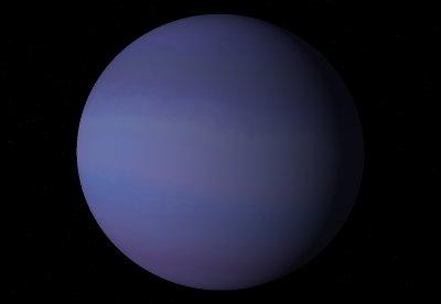 Egzoplaneta typu III w klasyfikacji Sudarskiego - prawdopodobny wygląd HD 9446 c / Credits - Celestia program