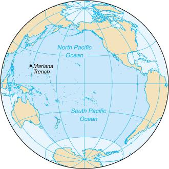 Pacyfik /  Credits - CIA World Factbook