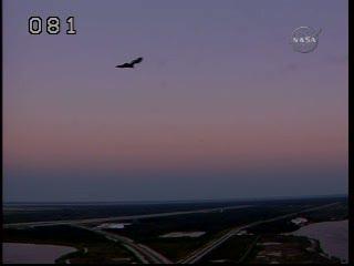 Godzina 12:52 CET - wschód na Florydzie / Credits - NASA TV