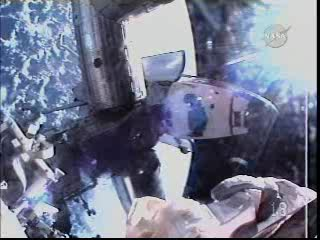 16:30 CET - widok z kamery astronauty Satchera / Credits - NASA TV