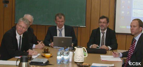 Dyskusja na temat współpracy przeprowadzona w CBK credits: CBK (kopiowanie zdjęcia zabronione)