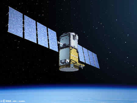 Satelita systemu nawigacyjnego Galileo credits: ESA - P. Carril