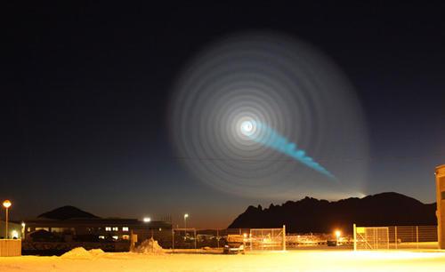 Zjawisko wywołane nieudanym startem rakiety Buława, credits: Jan Petter Jorgensen