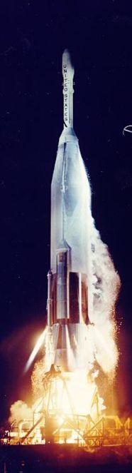 Start rakiety Atlas-Able z sondą Pioneer (NASA)