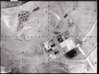 Soyuz TMA-16 odłącza się od Stacji, Credits: NASA TV