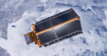 Wizualizacja satelity CryoSat-2 na orbicie okołoziemskiej / Credit: ESA