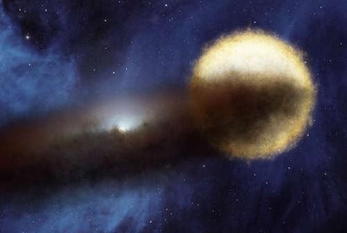 Wizja artystyczna układu Epsilon Aurigae, credits: NASA/JPL-Caltech