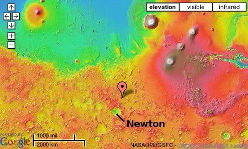Położenie sfotografowanego miejsca. Credits: NASA/JPL/Google