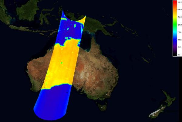 Australia - skalibrowane dane z SMOS, (c) ESA
