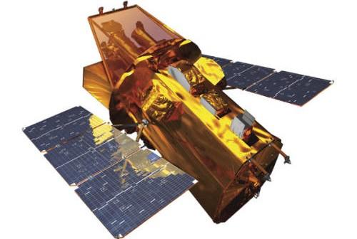 Rendering przedstawiający obserwatorium orbitalne Swift (NASA)