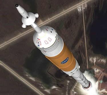 Wizja startu rakiety Ares I (NASA)