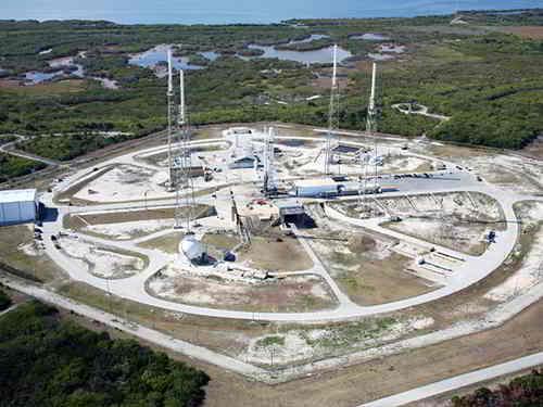 Wyrzutnia startowa LC-40 mieszcząca się na Przylądku Canaveral,  credits: SpaceX