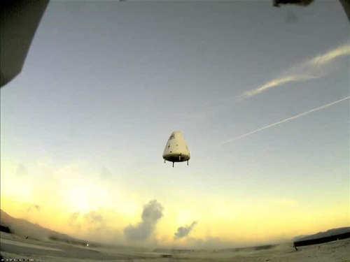 Pojazd testowy 'Goddard' podczas prób w 2006 roku, credits: Blue  Origin