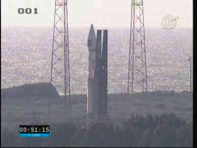 Altas V / SDO na wyrzutni startowej LC-41, credits: NASA TV