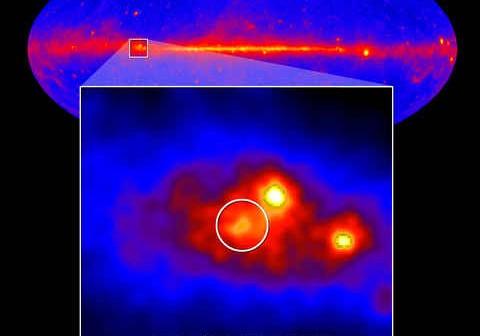Lokalizacja mikrokwazara Cygnus X-3, credits: NASA/DOE/Fermi LAT Collaboration