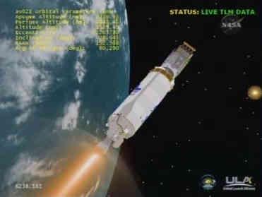 Silnik Centaura ponownie został uruchomiony, credits: NASA TV