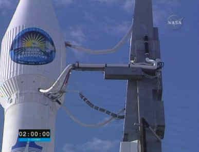 Zbliżenie na osłonę ładunku rakiety Atlas V, credits: NASA TV