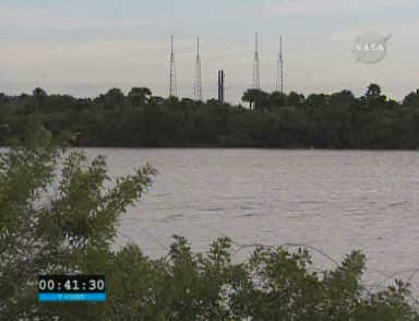 Widok na  wyrzutnię LC-41, credits: NASA TV
