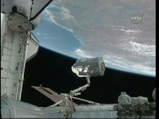 Node 3  nad Australią - niesamowity widok / Credits - NASA TV