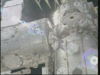 Moduł Tranquility przyłączony do Unity / Credits - NASA TV