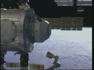 Node 3 i Cupola ponad Ziemią / Credits - NASA TV