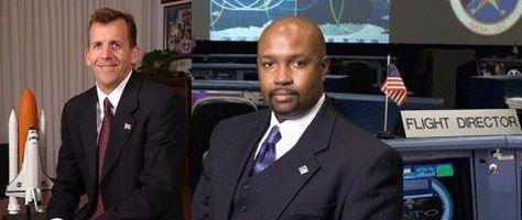 Dwie osoby w programie STS o nieocenionym wpływie na pracowników - po lewej LeRoy Cain, po prawej Kwatsi Alibaruho - Dyrektor Lotu / Credits: NSF.com