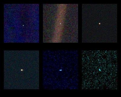 Portret Układu Słonecznego, w tym i Ziemi / Credits: NASA