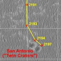 Mapka aktualnej pozycji łazika Opportunity. NASA/JPL/Eduardo Tesheiner