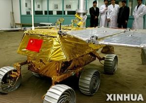Makieta chińskiego łazika księżycowego, credit: Xinhua