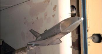 Model RLV-TD w tunelu aerodynamicznym, (c) ISRO