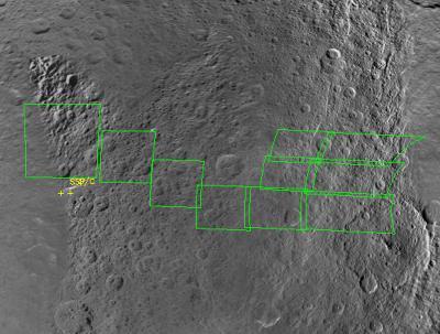 Cele obserwacyjne dla dzisiejszego przelotu / Credits - NASA, ciclops.org