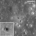 Miejsce lądowania pojazdu Łuna 16 w rejonie Mare Fecunditatis, credit: NASA/GSFC/Arizona State University