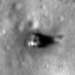 Zbliżenie na lądownik Łuna 20, credit: NASA/GSFC/Arizona State  University