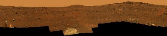 Panorama 'Calypso' wykonana przez łazik marsjański Spirit - czy za około 30 lat człowiek zobaczy podobny widok? (NASA/JPL)