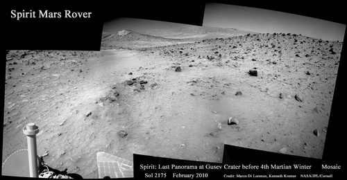 Ostatnia panorama uzyskana przez pojazd w tym roku, credit: NASA/JPL/Cornell