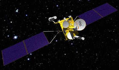Wizja artystyczna satelity COMSATBw-2, credit: EADS Astrium