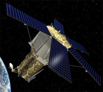 Wizualizacja satelity GeoEye-2, credit: Lockheed Martin