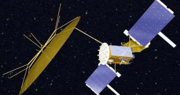 Satelita MUOS - wizualizacja / Credits: Lockheed Martin